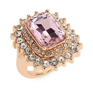 Crystal cocktail ring from Nordstrom